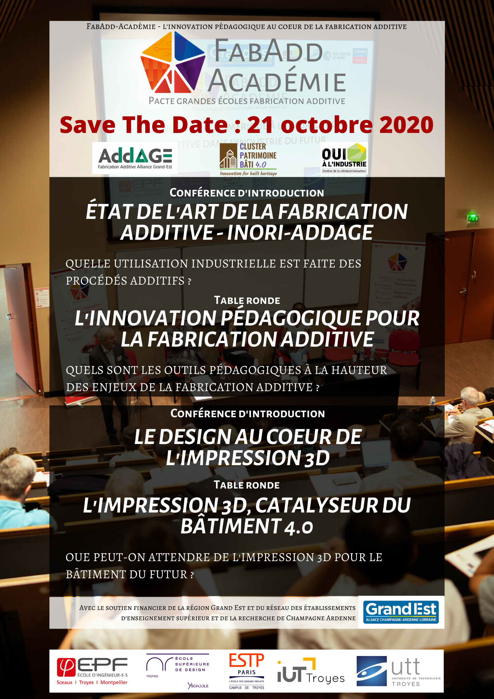 affiche Save the date 21 octobre